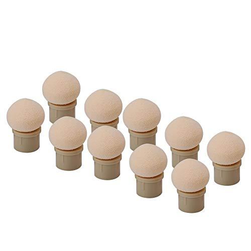 Qkiss 2 types 10 stuks verwisselbare sponskop voor glitter poeder dotting pen penseel nail art tool Scherp einde