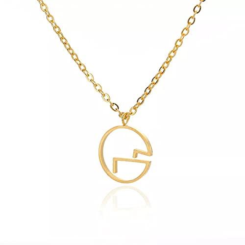 Colgante de collar Collares con colgante de círculo redondo simple para mujer cadena de color dorado de acero inoxidable collar de cadena de montaña a la moda regalo de joyería Regalo para ella