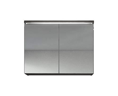 Spiegelkast Paso 80cm Bodega (grijs) - kast spiegelkast spiegel badkamer badkamermeubel