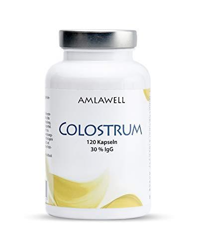 AMLAWELL Colostrum – 120 Kapseln (500 mg Kolostrum pro Kapsel) mit wertvollen Vitaminen, Mineralien, Aminosäuren und Immunglobulinen