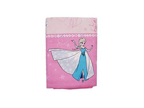 Disney Parure de lit simple pour fille Disney La Reine des neiges, couple Parure de lit + taie d'oreiller Taille unique enfant rose