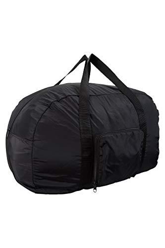 Mountain Warehouse Sac à Cabine Packaway - Bagage à Main 40L, Poids léger, Sac résistant à l'eau, Coutures soudées - Usage Quotidien, Voyage Noir Taille Unique