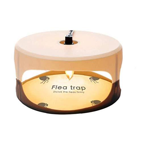Hiinice Trampa de pulgas Asesino de la Mosca de la lámpara Redonda Simple instalación Pegamento Discos Mejor Control de plagas para el hogar
