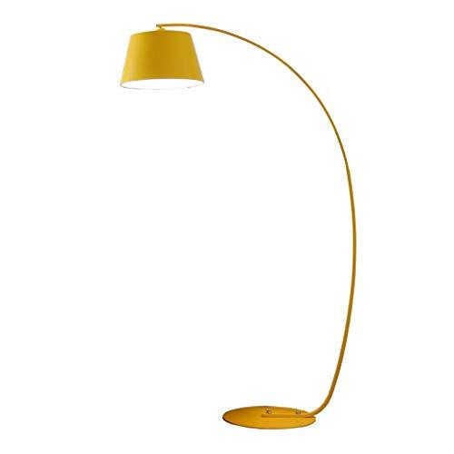 Wubing Lámpara de pie Sala de Estar Lámpara de Pesca Sencillo Estudio Moderno Personalidad Creativa Sofá Dormitorio Lámpara de pie Decorativa (Color : Yellow, Size : 100 * 180CM)
