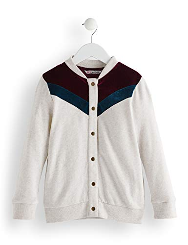 Amazon-Marke: RED WAGON Mädchen Jacke Velvet Detail Bomber, Elfenbein (Oatmeal), 122, Label:7 Years