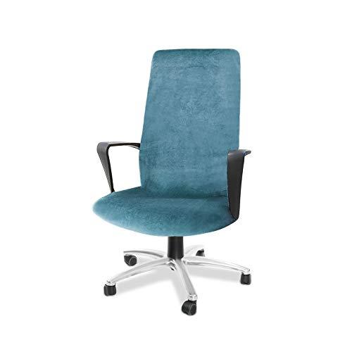 CAVEEN Bürostuhl Bezug, Bezug für Bürostuhl Computerstuhl Bürostuhl husse Drehstuhl bezug drehbar abnehmbar Bürostuhl Überwurf Bezug für Sessel Schonbezug für Büro (Hellblau, Large)