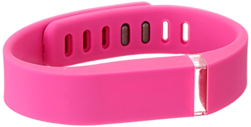 Voguestrap Smart Buddie 1800-1001-PK Pink Rubber Strap Compatible with Fitbit Flex