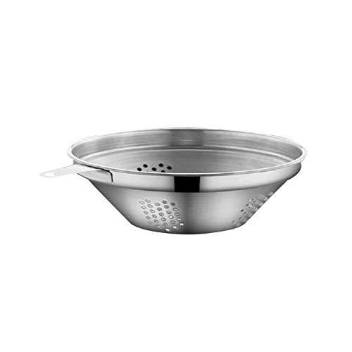 SUVIA - Separatore di grasso in acciaio inox per zuppe e grassi, multiuso, con filtro dell'olio con filtro e coperchio, 1000 ml