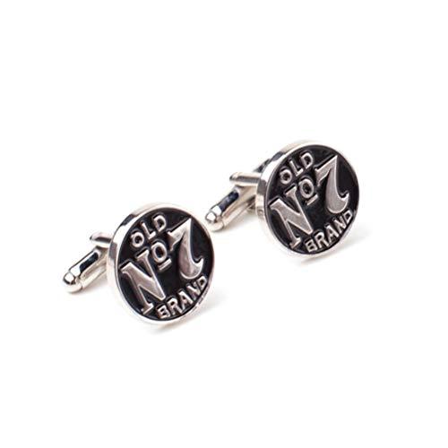 Jack Daniel's Cufflinks No. 7 Logo Cufflinks Silver