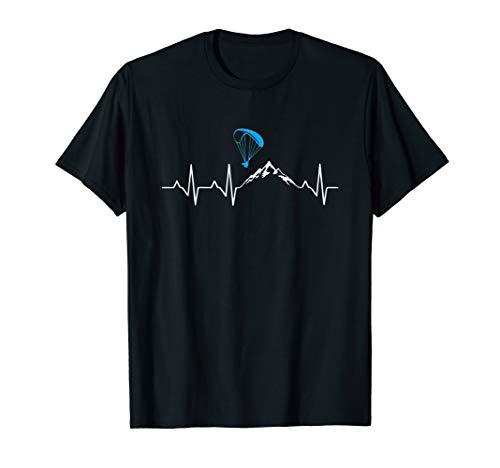 Gleitschirmfliegen Herzschlag Paragleiter Geschenk T-Shirt