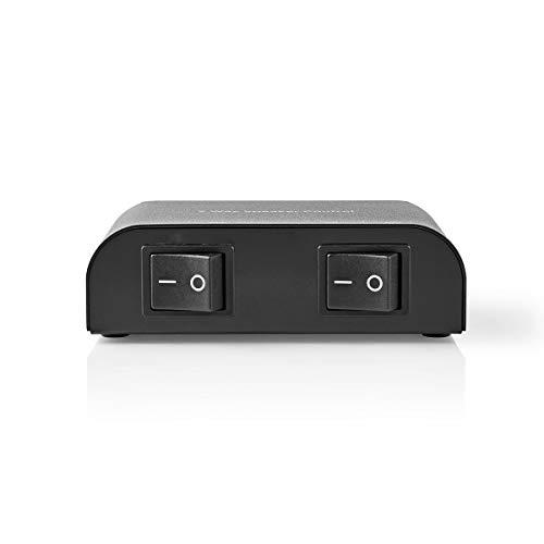 TronicXL Lautsprecher Umschaltbox Umschalter für 2 Lautsprecherpaare Stereo 2fach Analog Audio Schalter Switch Input Weiche Audioschalter Lautsprecher Boxen Schraubklemme Schraubklemmen (2fach)