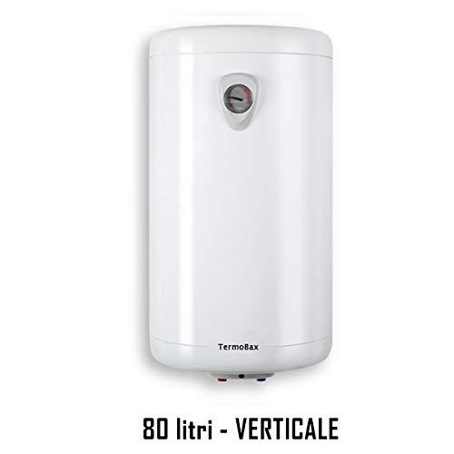 SCALDABAGNO elettrico scalda acqua boiler scaldino lt 10 30 50 80 100 litri VERTICALE-ORIZZONTALE. Termobax (80 litri VERTICALE)