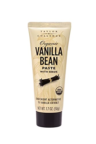 Taylor & Colledge Organic Vanilla Bean Paste with Seeds, 1.7oz Tube