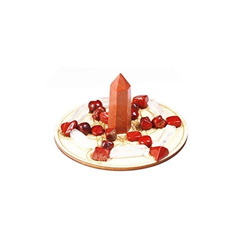 結晶のラフ ナチュラルクリスタルワンドチャクラレイキルキーヨガヒーリングクリスタルストーンホームガーデンストーン彫刻装飾品 (Color : Red jasper, Size : One Size)