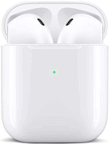 Auriculares Bluetooth 5.0 Auricular Inalámbrico Control Táctil con Graves Profundos In-Ear Auriculares Bluetooth con Caja de Carga Rápida IPX7 Impermeables,para Android/iPhone/Airpods/Samsung