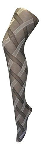 sock snob - Damen &urchsichtig Gemustert farbig Winter 80 den Strumpfhose größe 36-42 eur (36-42 eur, Cable Weiß/Schwarz)