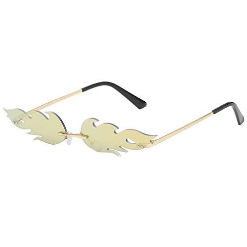 Lazzboy Mann Frauen Unregelmäßige Form Sonnenbrille Brille Vintage Retro Smart Change Semirandless Outdoor-reiten Sport Fahren Polarisierte Schutz Radfahren Skifischen Golf(F)