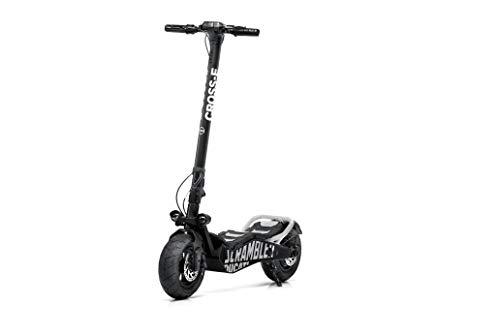 Cross-e Total Black Scrambler Ducati - Patinete eléctrico, Motor 500 W sin escobillas, autonomía hasta 35 Km, Carga máxima 120 kg, Marco de aleación de Acero, Plataforma XL