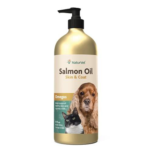 NaturVet UNSCENTED SALMON OIL Omega 3 & 6 Fatty Acids...