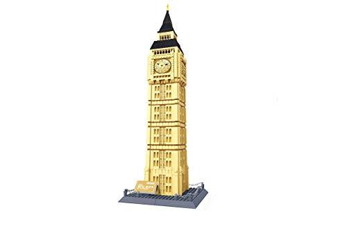 Steinchenshop Wange Klemmbausteine Architektur Set Konstruktionsspielzeug (Big Ben)