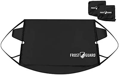 FrostGuard Premium Windshield Snow Cover with Built-in Wiper Cover & 2 Security Panels, Black (Standard)…