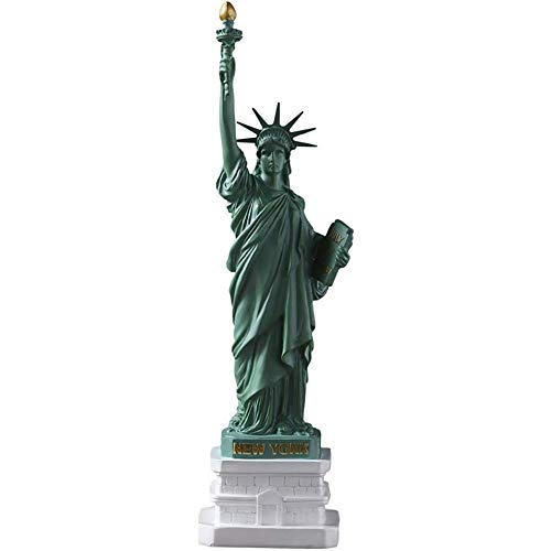 IUYJVR Figurine Statue Ornament Home Decoration Handmade Artware Model Memory Figurines,Desktop Decoration For Bookcase Study Home Decor,10''usa Statue Of Liberty Statues And Sculptures Green 8x7x2