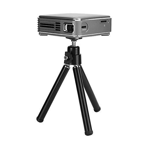 Sorandy Mini proyector, proyector de Video LCD LED 4K, proyector Inteligente portátil DLP sin Pantalla de TV, proyector de Cine en casa 3D Compatible con USB HDMI AV TFT(2G + 16G)