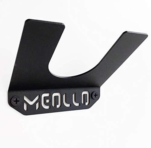 MEOLLO Soporte Colgador de Pared para Skateboard y Longboard (100% Acero) (Negro X1)