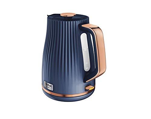 Tefal Loft KO251440 Rapid Boil Traditioneller Wasserkocher, 1,7 l, Mitternachtsblau & Rotgoldblau, Rose, Kunststoff, 3000 W