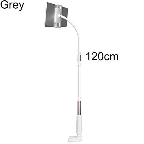 Dyyicun12 Tablet Houder, Flexibele Hals Verstelbare Tafel Tablet Telefoonhouder Beugel voor iPad, 120 cm, Grijs