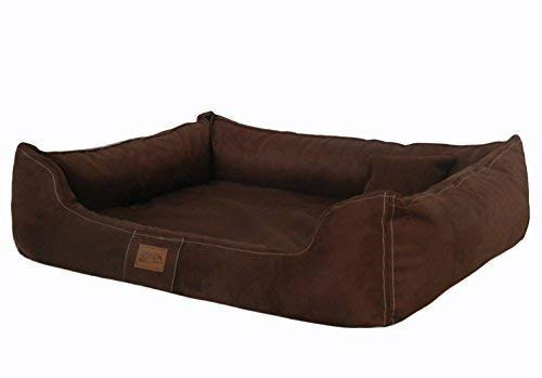 tierlando® Soft LINE Orthopädisches Hundebett Maddox Ortho VISCO Velours Hundesofa Hundekorb Gr. XL 120 cm BRAUN