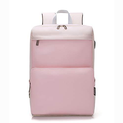 Hanggg 14 inch 13,3 inch laptop tas reistas rugzak tas 15,6 pollici Roze.