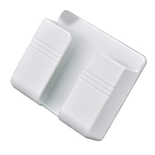Hemoton 10 Piezas de Soportes de Pared para Teléfono Caja de Almacenamiento para Pared Caja de Almacenamiento con Control Remoto Adhesivo para Pared Estante de Plástico para Pared Estante