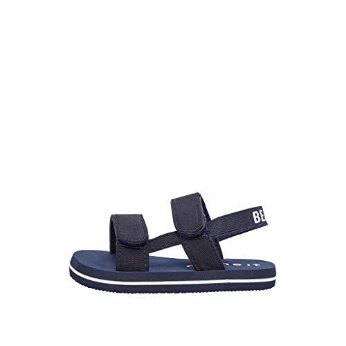 NAME IT - Sandalias con cierre de velcro para niños Azul – Zafiro Oscuro 6-12 meses