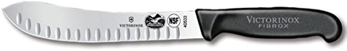 Victorinox Swiss Army Cutlery Fibrox Pro Butcher Knife, Granton Edge, 8-Inch