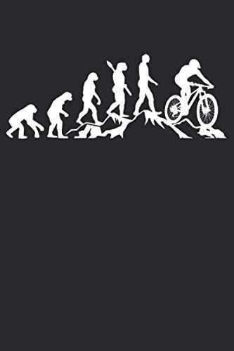 Downhill Evolution: Cooles Downhill Fahrer & Mountainbiker Notizbuch, Lustige Fahrrad Stunt Geschenk Sprüche, Kariert 120 Seiten, A5