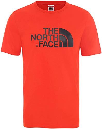 THE NORTH FACE Herren M S/S Easy Tee FIERYRD/TNFBLK, Red, L