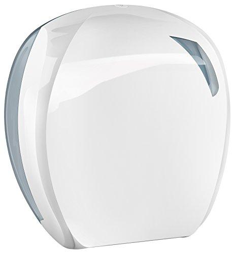 Mar Plast A90701 Skin 200 dispenser voor wc-papier, wit/doorzichtig, 296 x 135 x 277 mm