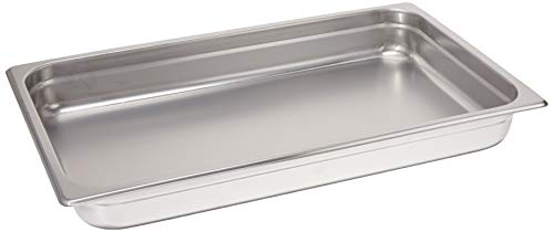 Winco 2.5-Inch Deep Full-Size Anti-Jamming Steam Table Pan, 25 Gauge, NSF