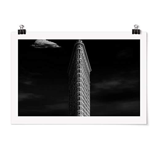 Bilderwelten Poster - Flatiron Building - Acabado Satinado Autoadhesivo 80 x 120cm