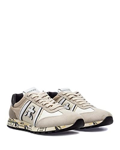 PREMIATA Scarpe Sneakers Donna LucyD 5301 Pelle Beige