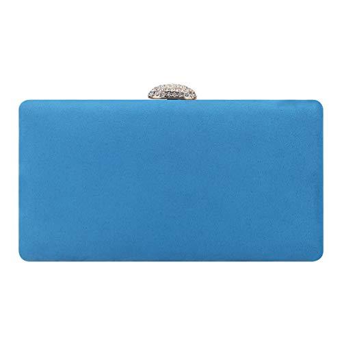 Fawziya Crystal Clutch Rhinestone Envelope Evening Purse-Sky Blue