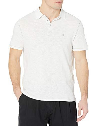 Photo of John Varvatos Star USA Men's Short Sleeve Peace Polo Shirt, Salt, Large