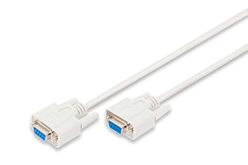 DIGITUS Serielles Anschluss-Kabel - D-Sub 9 zu D-Sub 9 - Buchse zu Buchse - 2.0m - RS-232 - RS-485 - Beige