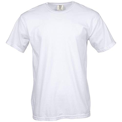 Comfort Colors Men's Adult Short Sleeve Tee, Style 1717, White, 3X-Large
