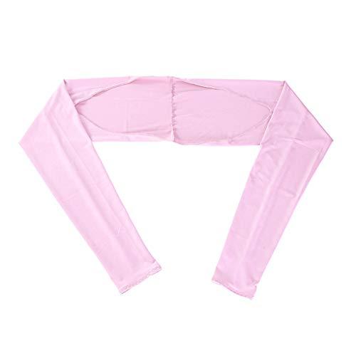 FEIlei Shawl Sleeve, Women Summer Anti-UV Cooling Shawl Arm Sleeves Golfing Riding Sun Protector Wrap-Pink