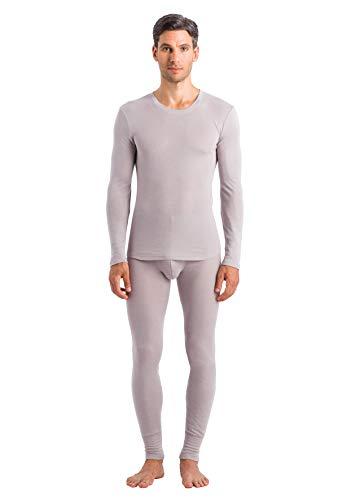 Hanro Herren Silk Cashmere Long Sleeve Shirt Pyjama-Oberteil (Top), Denkmal, Mittel