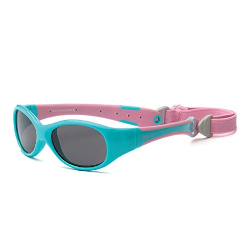 Product Image of the Real Shades Polarized Explorer Sunglasses (Baby 0+, Aqua/Pink)