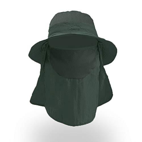 DecentGadget Cappello Estivo Cappello da Pescatore per Pesca Cappelli Uomo Estivo con Protezione UV per attività all'aperto (Verde)