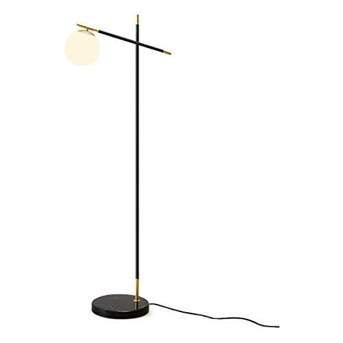 Lámpara de pie Dormitorio y sala de estar del piso de la lámpara LED de lectura de pie de luz con pantalla de suspensión Arco interior de la lámpara, poste alto for Office blanca esférico Acrílico Pan